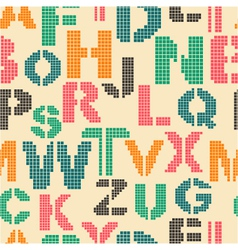 seamless pattern with letters of the alphabet vector image