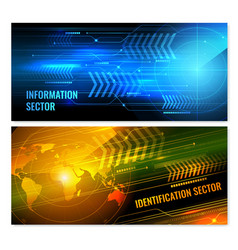 Search radar horizontal banners vector