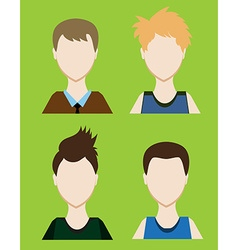 Set of Male avatar or pictogram for social vector