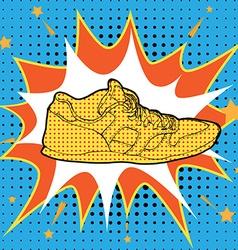 Sneakers in Pop-Art Style vector image
