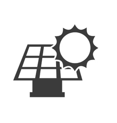 solar energy panel with icon vector image