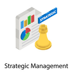 Strategic management vector
