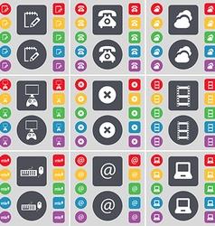 Survey Retro phone Cloud Game console Stop vector image