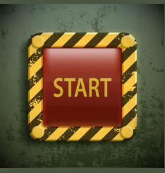 Switch button with the word start vector