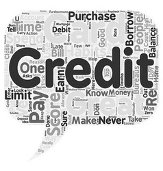 Top Habits Of People With Great Credit Scores text vector