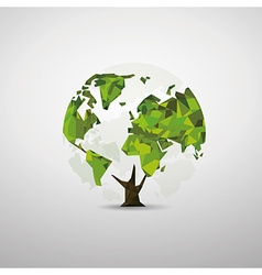 Tree world map vector
