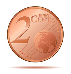 Two euro cent 2 vector