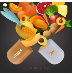 Vitamin A in Food vector image