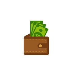 wallet money icon design wallet with money vector image