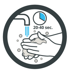 Wash your hands with soap and water frequently vector