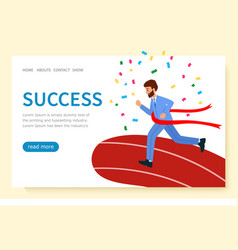 Website design page business success concept of vector