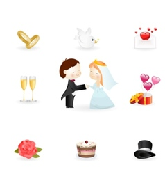 wedding symbols vector image