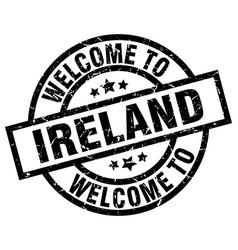 Welcome to ireland black stamp vector