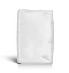 White bag for flour or other loose products vector