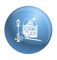 wood house icon simple style vector image