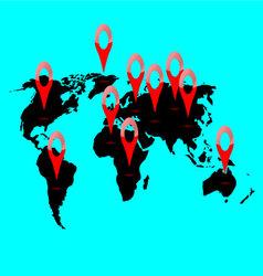 World map location vector image
