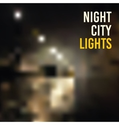 Backgrounds blur night city lights vector