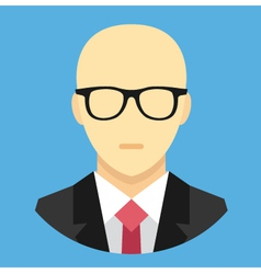 Bald Man in Business Suit Icon vector image