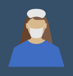 female doctor medical object flat icon vector image