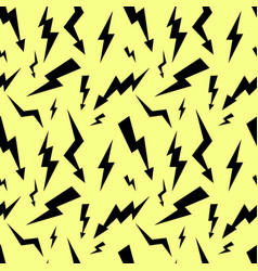 seamless high voltage pattern on yellow background vector image vector image