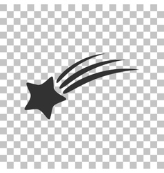 Shooting star sign Dark gray icon on transparent vector image vector image