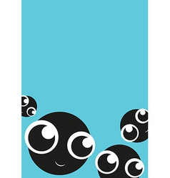 Card with cute monsters vector image