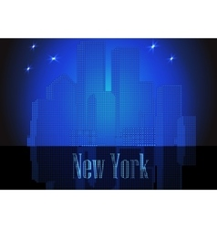 citie silhouette retro New York vector image