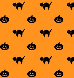 Halloween repeating background pattern vector image