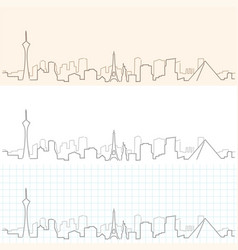 Las vegas hand drawn skyline vector