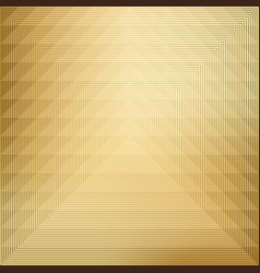pattern geometric on gold background vector image