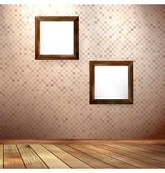 Vintage frame on a wooden texture EPS 10 vector image vector image