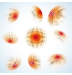 Abstract halftone circle design EPS 10 vector image vector image