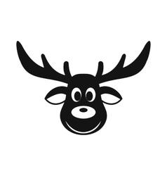 Deer christmas simple icon vector image