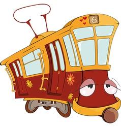 Fantastic tram vector image