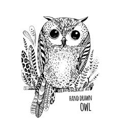 Hand drawn bird Art Coloring book vector image vector image