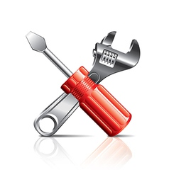 object screwdriver wrench vector image