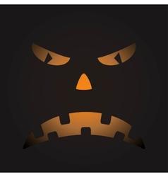 Scary face of halloween pumpkin vector