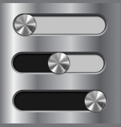 slider toggle switch interface button vector image vector image