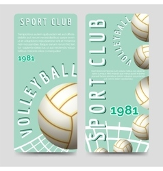 Volleyball sport club brochure template vector image