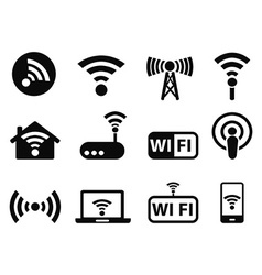 wifi icons set vector image vector image