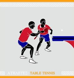Athlete table tennis vector image vector image