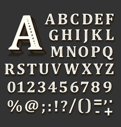 black and white font on black background the vector image vector image