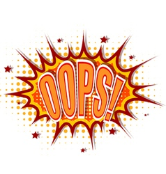 Cartoon of oops vector image vector image