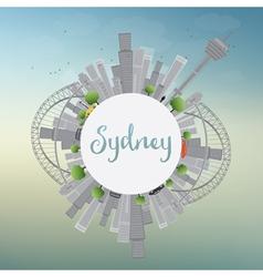 Sydney City skyline with blue sky skyscrapers vector image vector image