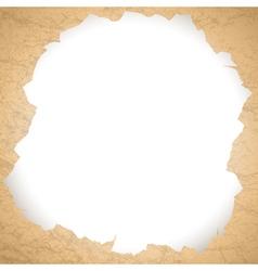 Vintage torn paper hole vector