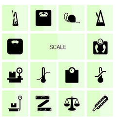 14 scale icons vector