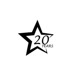 20 years star anniversary sign element of vector image