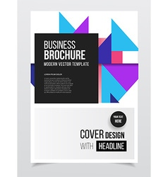 Annual report Brochure with text A4 size c vector