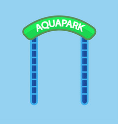 Aquapark entrance sign vector