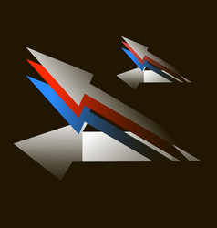 arrows on a black background in the form of cruise vector image